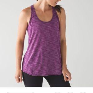 Lululemon essential tank pink and purple sz 6